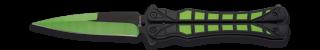Abanico ALBAINOX verde y negro. H: 10.2