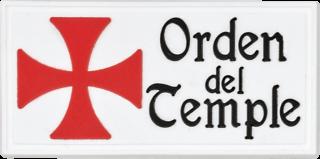 """parche """"Orden Del Temple"""" 6x3 cm"""