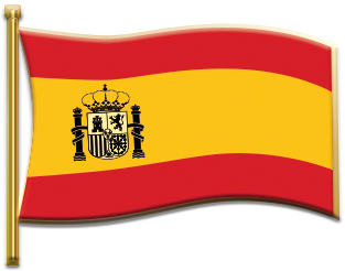 Spanish constitutional flag pin.2.5x1.9