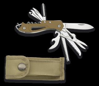 Albainox DAMASCUS AZURO Messer Backlock Damaststahl Aluminiumgriff §42a konform
