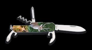 navaja 6 usos 3D ciervo. Tamaño: 9 cm cerrada