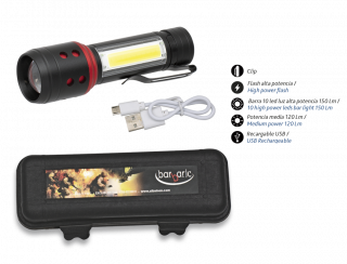 Rechargeable Flashlight LED BARBARIC