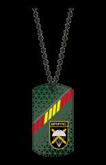 chapa militar BRIPAC. con cadena. 3D