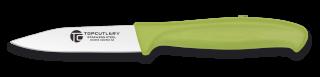 cuchillo pelador top cutlery. verde. 8.3