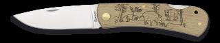 Pocket knife ALBAINOX wood Wild boar