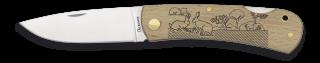Pocket knife ALBAINOX wood Rabbit