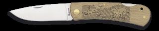 Pocket knife ALBAINOX wood Dog-Rabbit