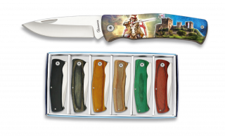 6 pocket knife set ALBAINOX TEMPLAR 3D 7 cm