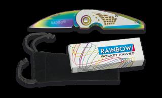 Rainbow pocket knife. Blade 6.4 cm