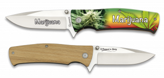Pocket knife ALBAINOX MARIJUANA 3D 8.8 cm
