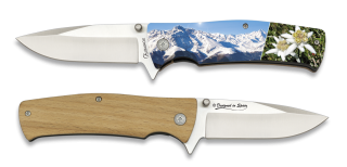 Pocket knife ALBAINOX wood 3D snow. 8.8 cm