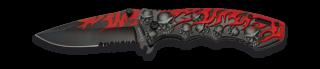 Navaja Albainox Skull & Flames. H: 8.5cm