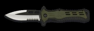 Albainox green/black penknife. Blade 9 c