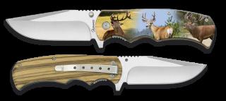 Couteau pliant 3D. Chasse cerf. Lame 8.8 cm
