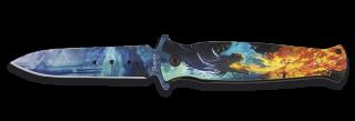 Navaja ALBAINOX 3D  dragon FOS 9.2 cm