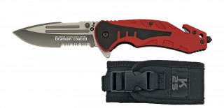 Tactical pocket knife K25 red G10 8.7cm