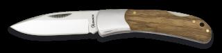 Navaja Albainox Madera Cebra. Hoja 7.8cm