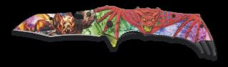 Navaja Albainox Relieve 3D Murciélago.