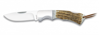 navaja Albainox virola acero. Ciervo. 8