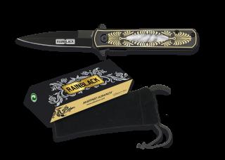 Couteau pliant FOS Rainblack. Lame 7.6