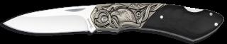Navaja Albainox madera negra-virola zinc