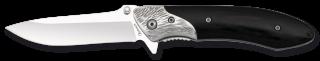 Navaja Albainox madera negra. H: 8.5 cm