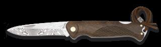 Albainox wood pocket knife. Blade 8 cm