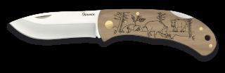 Pocket knife ALBAINOX. Wood. BOAR 7.6cm