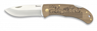 Pocket knife ALBAINOX. Wood RABBITS 7.6cm