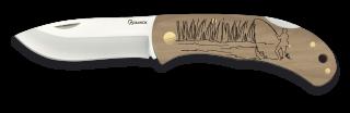 Pocket knife ALBAINOX. Wood. FISHER 7.6cm