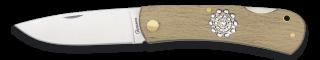 navaja albainox madera natural b.charro