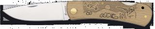 navaja albainox madera natural 7.3 cm