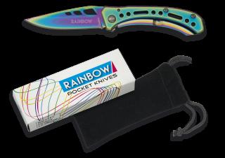 RAINBOW pocket knife. Titanium.Blade 6.8