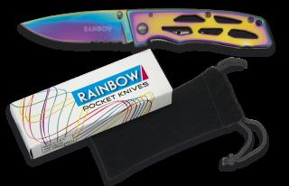 RAINBOW pocket knife. Titanium.Blade 6.9