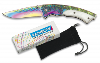 RAINBOW pocket knife. Pouch. Blade 7.8 c