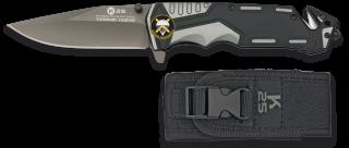 Navaja gris/negra K25 seguridad. H:9.4