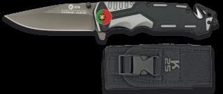 Navaja gris/negra K25 seguridad. H: 9.4