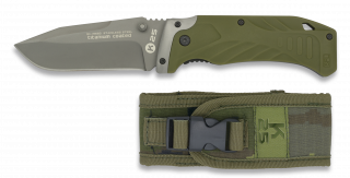navaja K25 verde con funda SPC. h:9
