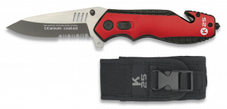 Tactical pocket knife. Red and black
