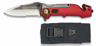Pocket knife K25 titanium/red 8.3 cm