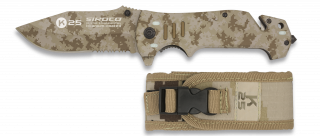 Tactical pocket knife K25 SIROCO Arid camo