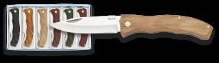 set 6 navajas Albainox madera. Hoja: 7cm