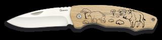 Pocket knife ALBAINOX wood. 7.5 cm