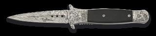 Navaja albainox damasquinada 8cm h FOS
