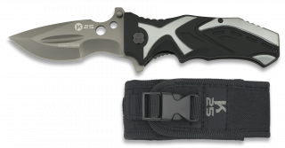 navaja k25 negra / gris titanium coated.