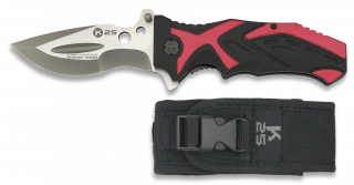 Pocket knife K25 black/red 9.3 cm