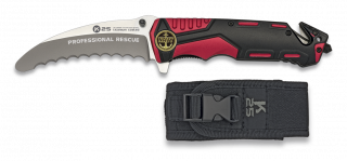 Pocket knife K25 red/black 9.5 cm