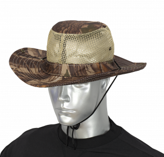 Boonie hat with mosquito net BARBARIC. Leaf brown