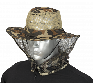 Boonie hat with mosquito net BARBARIC. Brown camo