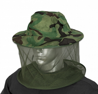 Hat with mosquito net BARBARIC. Green camo